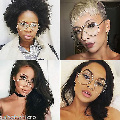 Quality GOLD Aviator Celebrity Style Clear Lens Glasses