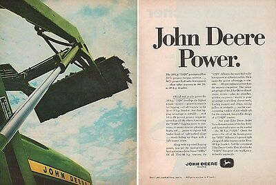 1967 John Deere 1020 Tractor AD Farm Ranch Equipment Implement 2-Page Vtg A1059