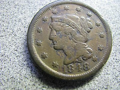 1848 & 1856 Large Cents --- Nice Old Stuff-