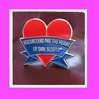 VOLUNTEERS are the HEART of Girl Scouts PIN Thank you NEW Leader GIFT