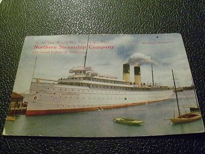 1914 Postcard Northern Steamship Company Northland B 280 great Northern Railway