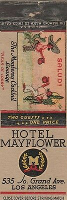 Vintage Hotel Matchbook Cover. Hotel Mayflower. Los Angeles, Ca.
