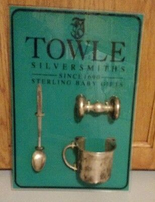 Sterling Silver - TOWLE Vintage Sterling Baby Gifts Set Spoon, Cup, Rattle