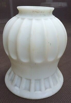 Antique Frosted Milk Glass Art Deco Lamp Light Shade