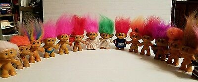 Lot of 15 Russ Troll Dolls 3 inches tall Giants