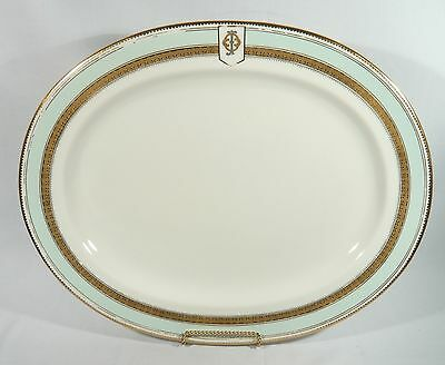 """VERY RARE Antique 1865 W Fairbairns Armorial Large 19"""" PLATTER GOLD & Silver"""