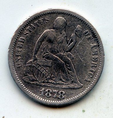 1878-p SEATED LIBERTY DIME - SCARCE !! (SEE PROMO)