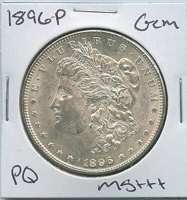 1896-P Morgan Dollar Uncirculated US Mint Gem PQ Silver Coin Unc MS++++++
