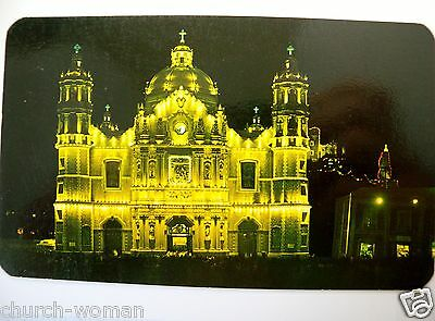 Catholic Postcard Our Lady of Guadalupe Chapel Shrine Church at Night Mexico # 8