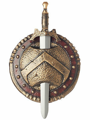 "Spartan Gladiator Warrior Roman Boys Costume Combat 12"" Shield & Sword"