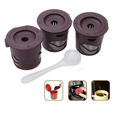 3 x Refillable Reusable Clever Coffee Capsule Pods Stainless Steel Filter Brew