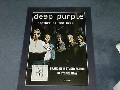 Deep Purple Signed Poster