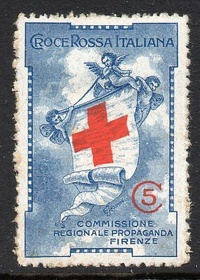 Italy WWI Red Cross publicity poster stamp