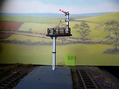 TRAIN RAILWAY N GAUGE SIGNAL Up quad 1-way home/dist +1 shunt Square posts [30