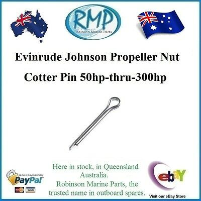 A Brand New Evinrude Johnson Propeller Nut Cotter Pin 50hp-thru-300hp # R 314502
