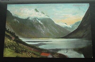 Postcard : Norway : Scene of Norwegian Fjord : Early Card : Unposted