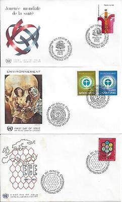 United Nations (Geneva) 1972-74 8x FDC (3 scans)