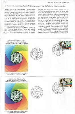 United Nations (Geneva) 1976-77 5x FDC (+ Info Sheets) 4 scans