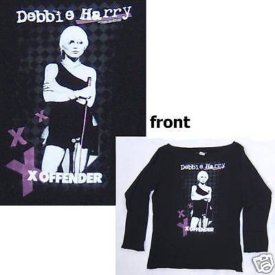 Blondie Debbie Harry Offender Baby Doll L/s Girls Shirt Small New