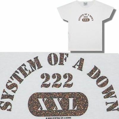 System Of A Down! Glitter White Babydoll T-Shirt M New