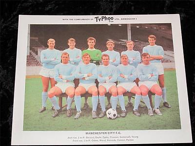 """Ty-Phoo Tea Card """"Football Clubs"""" 2nd Series Manchester City 1965 Excellent Cond"""