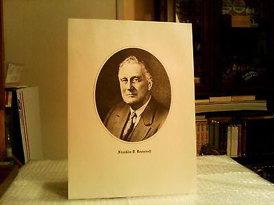 "Franklin Roosevelt  9"" X 12"" Presidential Portrait Lithographed Print- Excellent"