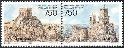 San Marino 1996 Great Wall/Castle/Buildings/Architecture/Diplomacy 2v pr n43419