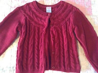 Gymboree 3T Red Cable Knit Cardigan Button Up Sweater Christmas Holiday