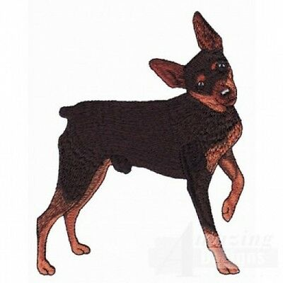 Embroidered Ladies Short-Sleeved T-Shirt - Miniature Pinscher AD214