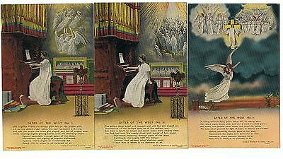 Set Of 3 Bamforth Song Series No 4537 Gates Of The West