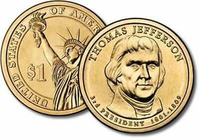 2007 D Thomas Jefferson  Presidential Dollar Coin  Bu From U.s. Mint