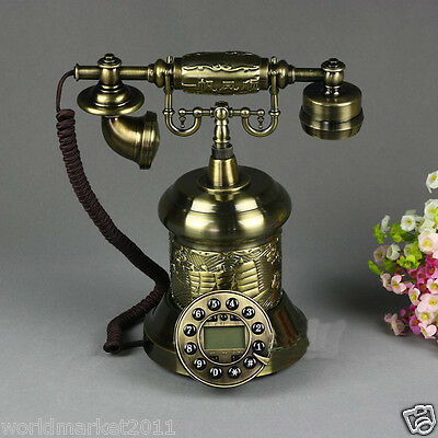 European Style High Grade Resin Sailboat Antique Ancient Dial Telephone.