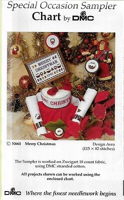Special Occasion Sampler ' Merry Christmas '  Cross Stitch Chart By Dmc