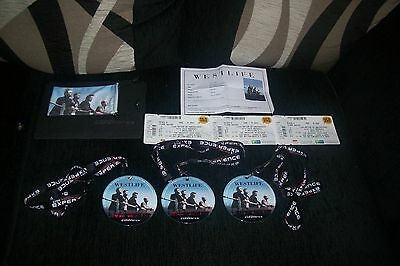 Westlife Farewell Tour 3 Tickets And 3 Neck Passes Special Ticket Wallet 2012