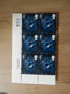 1999 W85  E  Walsall Welsh   Regional Without Borders In Cyl W1 Block Of 6  Mnh