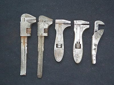 5 Joblot of F Type Adjustable Spanners Wrenches Mixed Bundle Tool