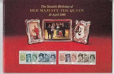 GB Stamp Souvenir Book - The 60th Birthday of QE2 - 21st Apr 86 - MINT Stamps