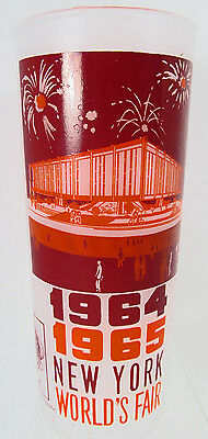 N141 New York World's Fair 1964 Frosted Souvenir Glasses Federal Pavilion