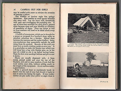 Vintage - Camping Out For Girls By C. Falcon – Circa 1935