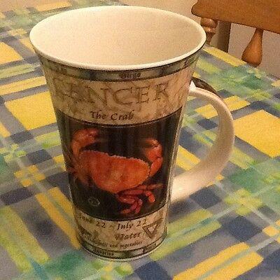 One Dunoon zodiac mug cancer super condition 2 available freepost on second