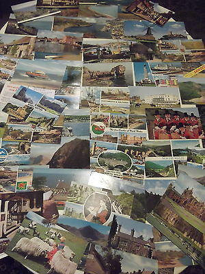 50 PLUS OLD STANDARD SIZED POSTCARDS FROM AROUND BRITAIN, MAINLY 1960's/70'S