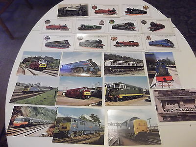 22 Old Various British Train Related Postcards