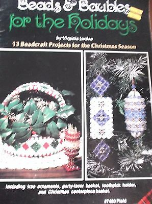 Vintage Beads & Baubles Holiday 13 Projects Ornaments Basket Christmas Patterns