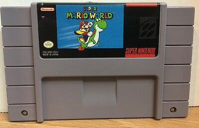 Super Mario World Super Nintendo SNES Game Cartridge Classic Cleaned Saves