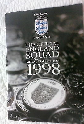 Sainsbury's  - 1998 Official England Squad (Football) Medal Collection