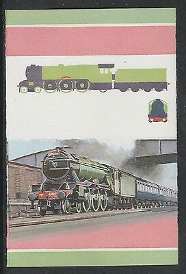St Lucia 2439 - Flying Scotsman IMPERF PROOF pair in 3 colours only  u/m