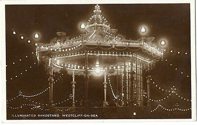 Real photo card, Illuminated bandstand, Westcliff on Sea, 1925