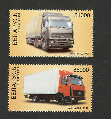 BELARUS-MNH-SET-Trucks from the automobile factory Minsk-1999.