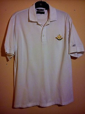 Greg Norman White Golf Polo Shirt Eastham Lodge Golf Club Gc Size M Medium Vgc