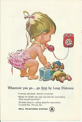 Bell Telephone System- ...go first by Long Distance- 1959 print magazine ad